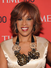 Gayle King's deep smoky eye gave her a cool sultry look on the red carpet.