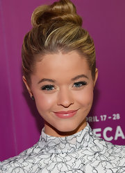 Sasha Pieterse looked almost like a ballerina in her frilly frock and adorable top knot.