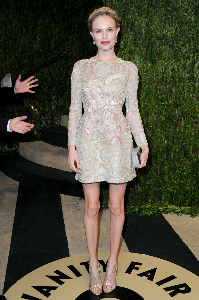 Actress Kate Bosworth arrives at the 2013 Vanity Fair Oscar Party hosted by Graydon Carter at Sunset Tower on February 24, 2013 in West Hollywood, California.