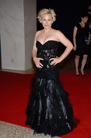 Patricia Arquette chose this strapless gown with a beaded bodice and full tulle skirt for her red carpet look at the White House Correspondents' Association Dinner.