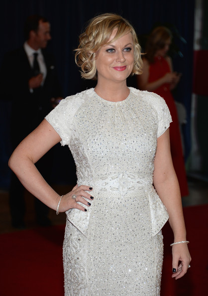 More Pics of Amy Poehler Beaded Dress (1 of 6) - Amy Poehler Lookbook - StyleBistro