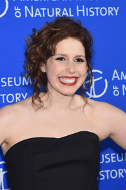 Vanessa Bayer swept her curly locks up into a messy-chic 'do for the American Museum of Natural History Gala.