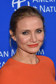 Cameron Diaz opted for a simple bun when she attended the American Museum of Natural History Gala.