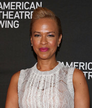 Tonya Lewis Lee went tough-chic with this fauxhawk at the 2014 American Theatre Wing Gala.