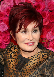 Sharon Osbourne rocked a punky layered cut at the Billboard Women in Music luncheon.