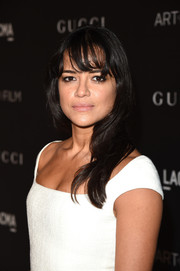 Michelle Rodriguez styled her hair with barely-there waves and wispy bangs for the LACMA Art + Film Gala.
