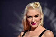 Gwen Stefani wore a half-up style, accented with her signature hair knot, at the MTV Video Music Awards.