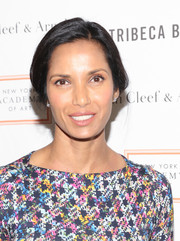 Padma Lakshmi pulled her hair back into a classic braid for the Tribeca Ball honoring Laurie Simmons.