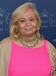 Shanu SP Hinduja attended the Princess Grace Awards Gala wearing a stunner of a choker.