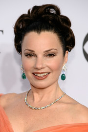 Fran Drescher was regally coiffed with pinned-up ringlets at the Tony Awards.