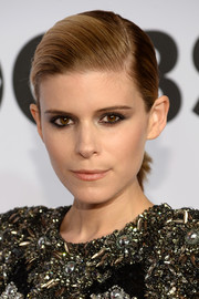 Kate Mara slicked her hair back into a neat side-parted ponytail for the Tony Awards.