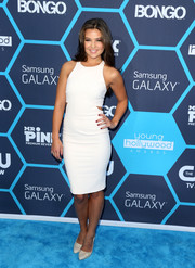 Danielle Campbell went for subtle sexiness in a sleeveless white cutout dress by Elizabeth and James during the Young Hollywood Awards.