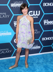 Grace Kaufman was summer-cool in an abstract-print halter dress during the Young Hollywood Awards.