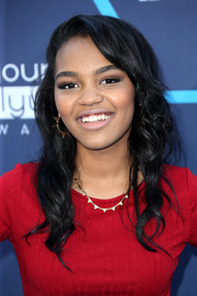 China Anne Mcclain attended the Young Hollywood Awards wearing ultra-girly waves.