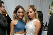 Actresses Vanessa Hudgens (L) and Ashley Tisdale pose in the green room at the 2014 Young Hollywood Awards brought to you by Samsung Galaxy at The Wiltern on July 27, 2014 in Los Angeles, California. The Young Hollywood Awards will air on Monday, July 28 8/7c on The CW.