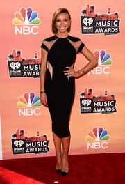 Giuliana Rancic looked fierce at the iHeartRadio Music Awards in a Lumier by Bariano LBD with see-through panels.