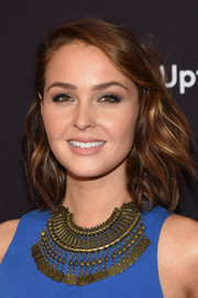 Camilla Luddington looked fab with her windblown waves at the ABC Upfront event.