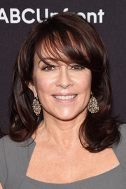 Patricia Heaton was flawlessly coiffed with stylish waves and wispy bangs during the ABC Upfront event.