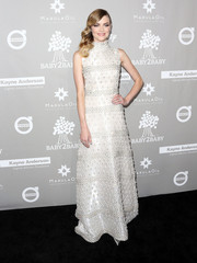 Jaime King looked opulent in an intricately embellished ivory gown by Naeem Khan at the Baby2Baby Gala.