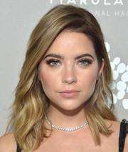 Ashley Benson accessorized with a classic diamond tennis necklace by Neil Lane.