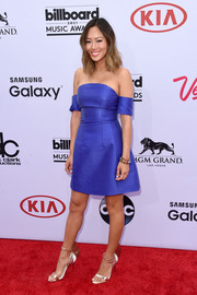 Aimee Song made a super-chic appearance at the Billboard Music Awards in an electric-blue off-the-shoulder dress by Carven.