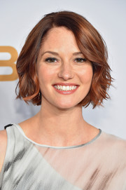 Chyler Leigh looked darling with her short wavy cut at the 2015 CBS Upfronts.