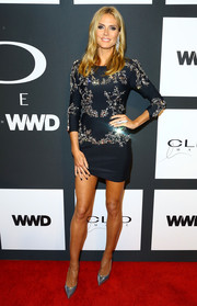 Heidi Klum attended the Clio Awards looking sophisticated in her bedazzled Thomas Wylde mini dress.