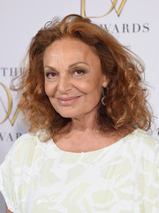 Diane von Furstenberg sported her usual shoulder-length curls during the DVF Awards.