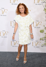 Diane von Furstenberg donned a subtly patterned shift dress for the DVF Awards.
