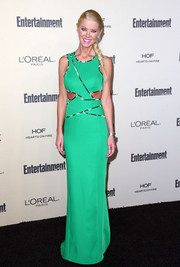Tara Reid stayed on trend in a bright green cutout dress during the Entertainment Weekly pre-Emmy party.