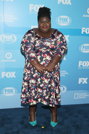 Gabourey Sidibe chose a colorful print dress for the Fox Programming Presentation.