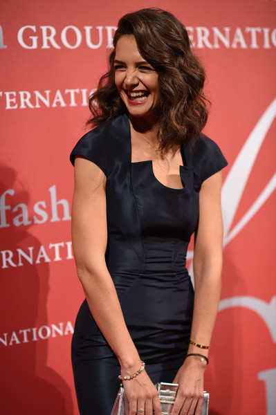More Pics of Katie Holmes Red Lipstick (1 of 24) - Makeup Lookbook - StyleBistro [premiere,dress,little black dress,cocktail dress,carpet,event,long hair,new york city,cipriani wall street,fashion group international night of stars gala,fashion group international night of stars gala,katie holmes]