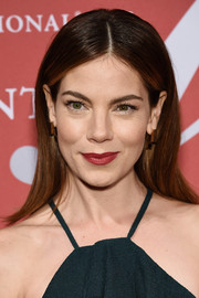 Michelle Monaghan's red lipstick provided a nice contrast to her green outfit.