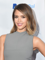 Jessica Alba wore her hair in a mid-length bob with just a hint of wave during the Forbes Women's Summit.