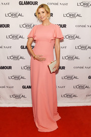 Ivanka Trump went ultra feminine in a pink ruffle-sleeve gown by Giambattista Valli at the Glamour Women of the Year Awards.