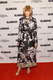 Anna Wintour arrived for the Glamour Women of the Year Awards wearing a floral coat. What a clever way to sweeten up leather!