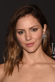 Katharine McPhee attended the InStyle and Warner Bros. Golden Globes party wearing her hair in edgy-chic waves.