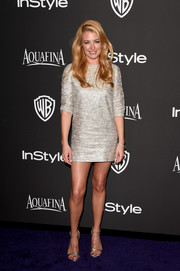 Cat Deeley looked totally fab in a super-short metallic dress by Charlie Brear at the InStyle and Warner Bros. Golden Globes party.