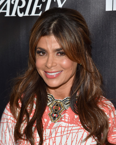 Paula Abdul went retro with this teased, wavy 'do with center-parted bangs at the Industry Dance Awards.