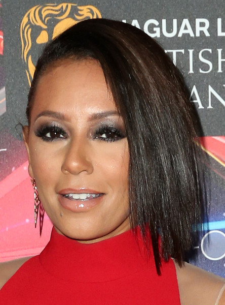 Melanie Brown sported a punky half-pinned 'do during the Britannia Awards.