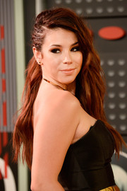 Jillian Rose Reed looked punk-glam at the MTV VMAs wearing this wavy 'do with one side pulled back in a row of braids.