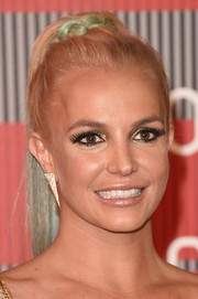 Britney Spears worked a multi-hued ponytail at the MTV VMAs.