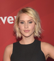 Claire Holt looked breezy with her short wavy 'do at the 2015 NBCUniversal Summer Press Day.