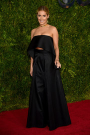 Ashley Tisdale took the flared pants trend to the extreme with this Solace London number she wore to the Tony Awards.