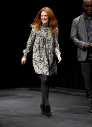 Julianne Moore made an appearance at the Toronto International Film Festival wearing a loose black-and-white floral dress.