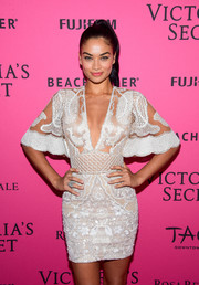 Shanina Shaik looked divine in an intricately embroidered sheer-bodice mini dress by Zuhair Murad at the Victoria's Secret fashion show after-party.