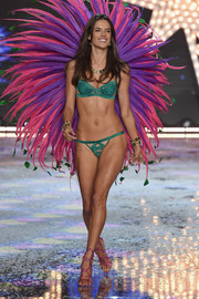 Angel Alessandra Ambrosio shows off the latest Victoria's Secret lingerie.