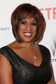 Gayle King kept trendy with this graduated bob at the Weinstein Company and Netflix Golden Globes party.