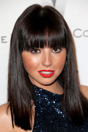 Krystle Mcgill sported Cleopatra hair at the Weinstein Company and Netflix Golden Globes party.