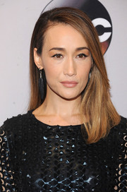 Maggie Q wore a simple straight 'do with one side tucked behind her ear when she attended the 2016 ABC Upfront.
